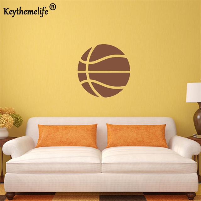 Keythemelife Kids Rooms Decor Basketball Wall Sticker For Your Room Vinyl Wall Art Decals F-in ...