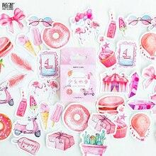 DIY Box Cute Stickers Scrapbooking Label Japanese Korean Diary Paper Travel Lifelog Girl Pink