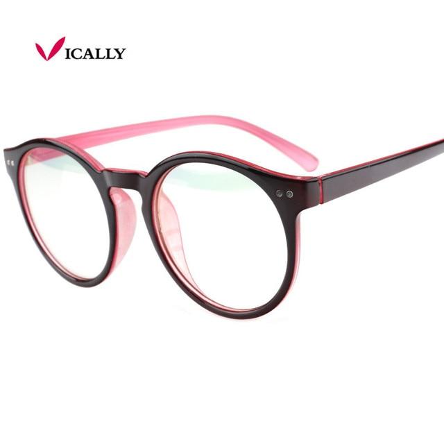 Round Plastic Glasses Frame Vintage Spectacle Frames For Women Men ...
