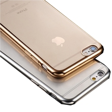 Case For iPhone 7 Plus Clear Silicon Luxury Slim thin TPU Soft Cover Phone Cases for iphone7 Plus Luxury Transparent Accessories