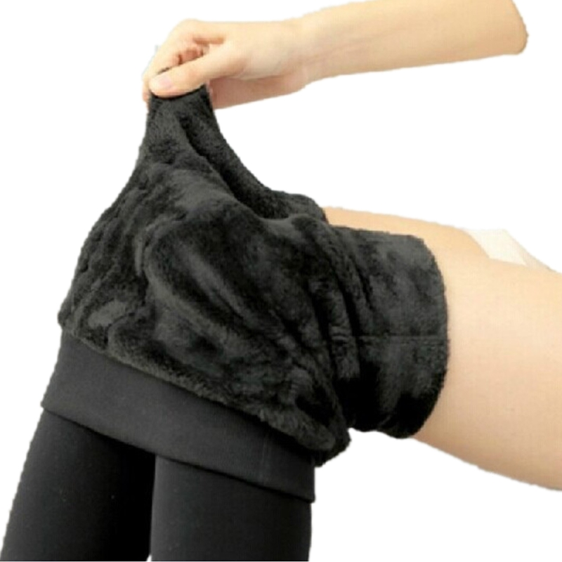 Women Leggings Thicken Fur Warm Fitness Leggins Winter Warm Fleece Legging Stretch Lady Pants Women Trouser Female Leggins G0642