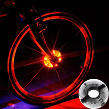 ZK30 Mixxar Led Spoke Light 2017 New Bicycle Cycling Hubs Light Front/Tail Light Wheel Warning Light Waterproof Bike Accessories