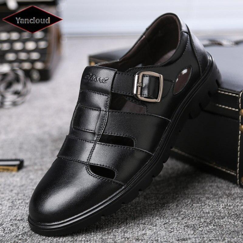 New 2020 Summer Men's Genuine Leather