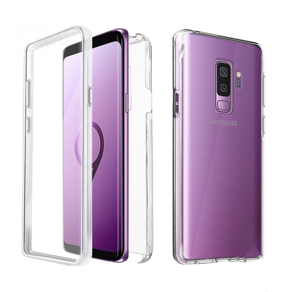 Luxury 360 Case Full Cover For Samsung Galaxy S10e S10 S9 S8 Plus S7 Edge A6 A7 A8 A9 J4 J6 J8 Plus 2018 Dual Side Cover Capa