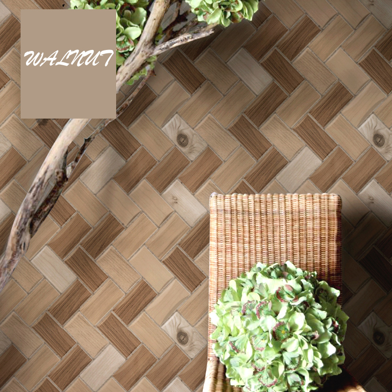 Sale Modern Chinese  Brick Floor Wallpaper 3D Waterproof Tea House Restaurant Bar Living Room Tv Background Tile Photo Wallpaper