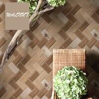 Sale Modern Chinese Brick Floor Wallpaper 3D Waterproof Tea House Restaurant Bar Living Room Tv Background Tile Photo Wallpaper
