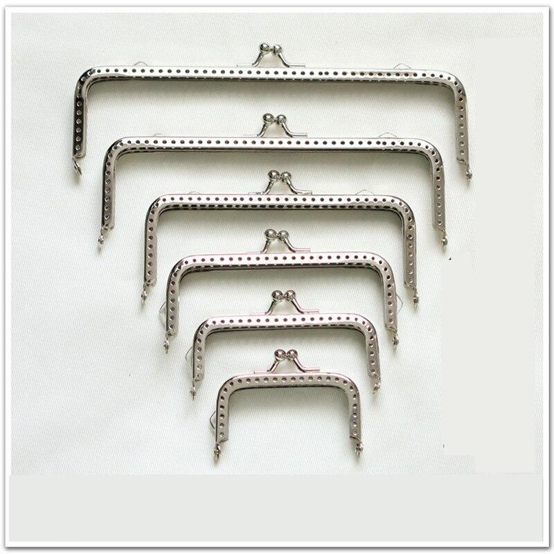 ≧Nueva lindo metal plata Costura manija del bolso monedas de ...