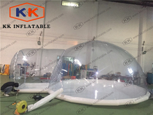 Big Inflatable Lawn Tent Transparent PVC Inflatable Bubble Tent For Hotel Use