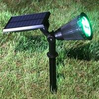 4 LEDs Solar Light Garden Outdoor Solar Lights/ Bulb Spotlights Waterproof Wall Lights Lawn Lamp Solar Powered Lithium Battery
