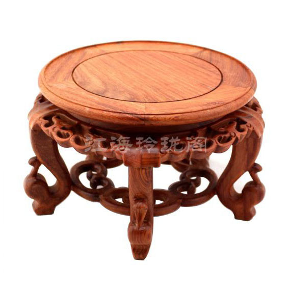 Redwood řezbářství řemesla květina kruh květ rybí nádrž váza bonsai masivního dřeva základny