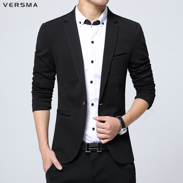 versma fashion causal men blazer suit jacket men christmas red