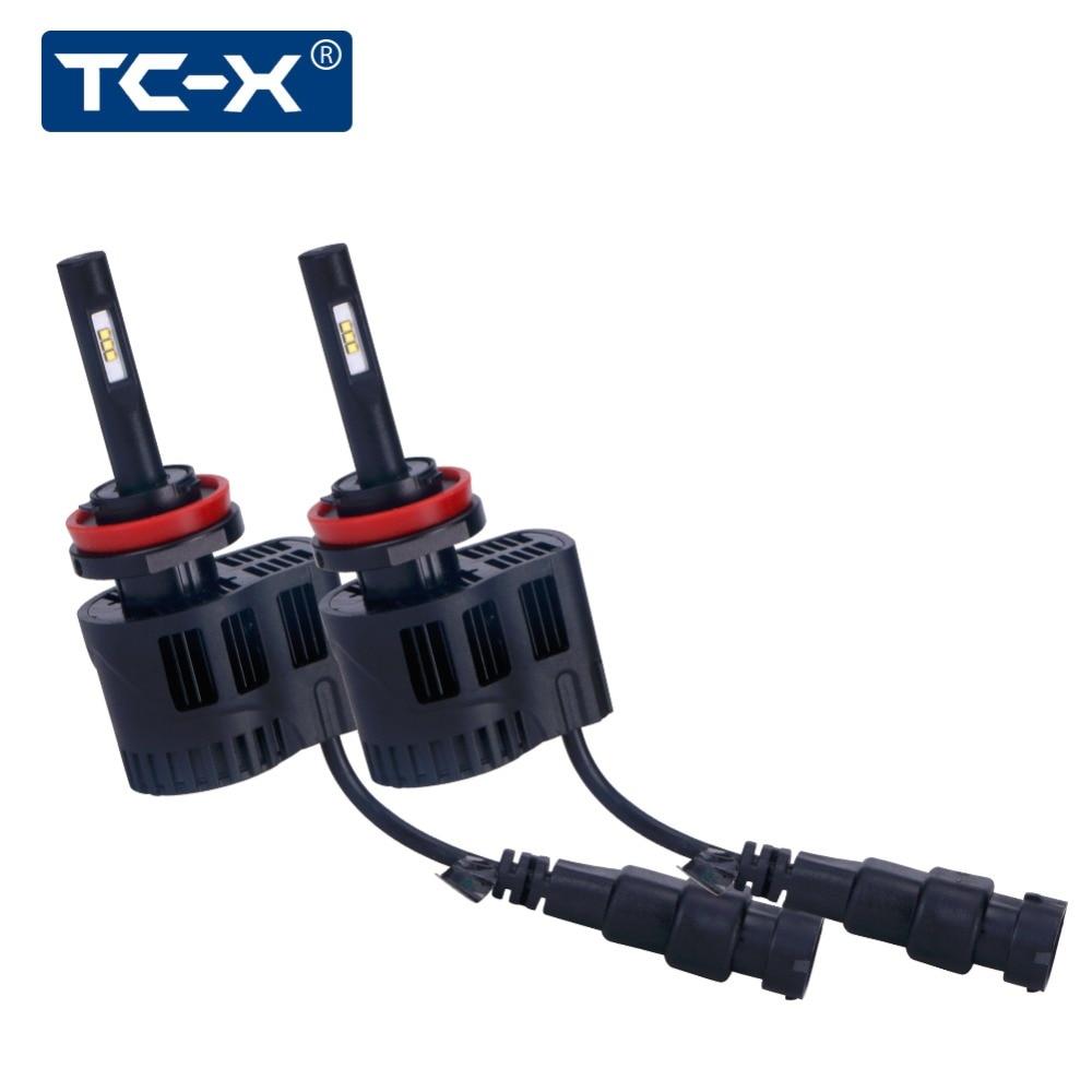 TC X LED Car Headlights Kit H11 luxeon z es Fanless 6000K 5000K 3000K 9006 880