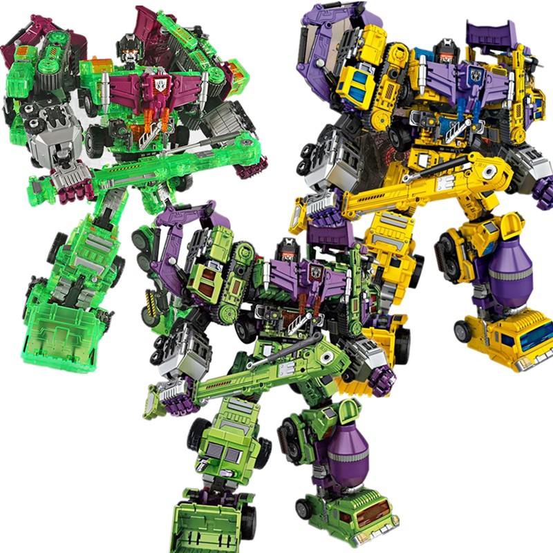 40cm 3 styles NBK 1-6 Transformation Robot Ko Devastator Hook LONG HAUL Scraper Mixmaster Figure Toy Action anime Figures Toys [new] 6 in 1 in stock nbk 01 06 hook action figure robot ko version gt scraper of devastator action figure toysoutdoor beach