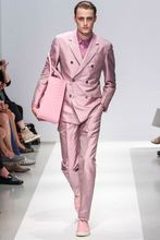 2018 Hot Pink Double Breasted Satin Simple Summer Jacket Wedding Suit For Groomsmen Best Men Blazer Male Jacket And Pants