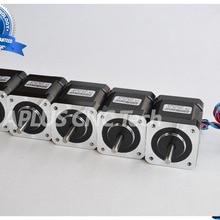 5 шт. NEMA 17 Шаговые двигатели, 73.5oz в 48 мм 2.3a, 1.8 градусов, 4 провода