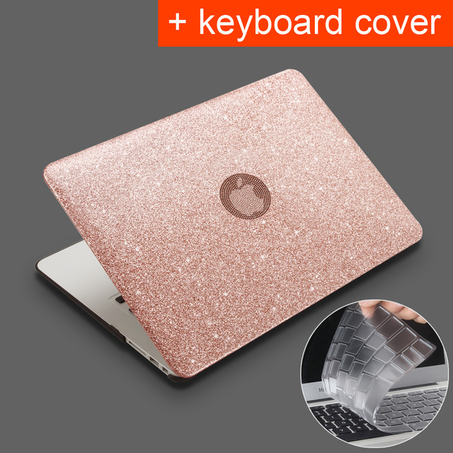 for Macbook Air 11.6 13.3 Pro Retina 11 12 13 15 inch with Touch Bar ID New 2016 2017 2018 Shine Laptop Case + keyboard cover
