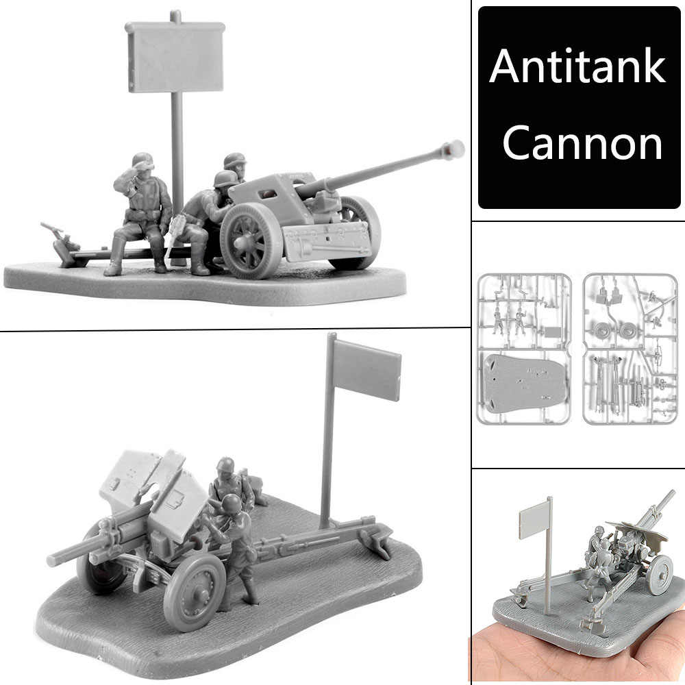 4D 1:72 Scenario PAK40 M30 M1938 Assembly Model Antitank Cannon Assemble Toys Puzzles Building Bricks Toy Model