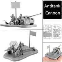 4D 1: 72 Szenario PAK40 M30 M1938 Montage Modell Antitank Kanone Montage Spielzeug Puzzles Bausteine Spielzeug Modell