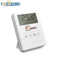 جهاز كشف درجة الحرارة الجديد من Earykong لاسلكي 433 ميجاهرتز ، مزود بشاشة إل سي دي ، رقائق 1527 ، شاشة عرض في الوقت الحقيقي ، لنظام إنذار ضد السرقة في المنزل|التشغيل الآلي للمبنى|الأمن والحماية -