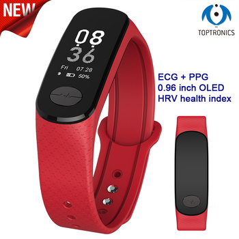 2018 Newest blood pressure band heart rate monitor PPG ECG smart bracelet activity fitness tracker Watch intelligent wristband