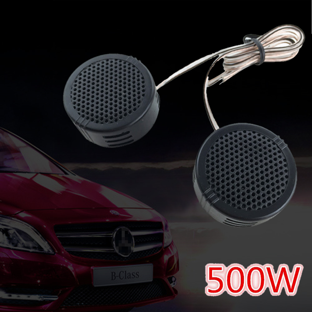1Pair 500W Mini Dome Car Tweeter Speakers 2.8V Universal Vehicle Door Auto Audio Music Stereo Full Range Frequency Loudspeaker
