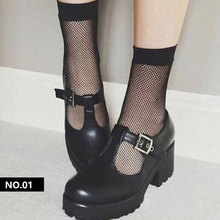 2019 Black Breathable Fishnet thin solid Cool Female Sexy Nets Women Ladies Girls Heels Sox ankle pe