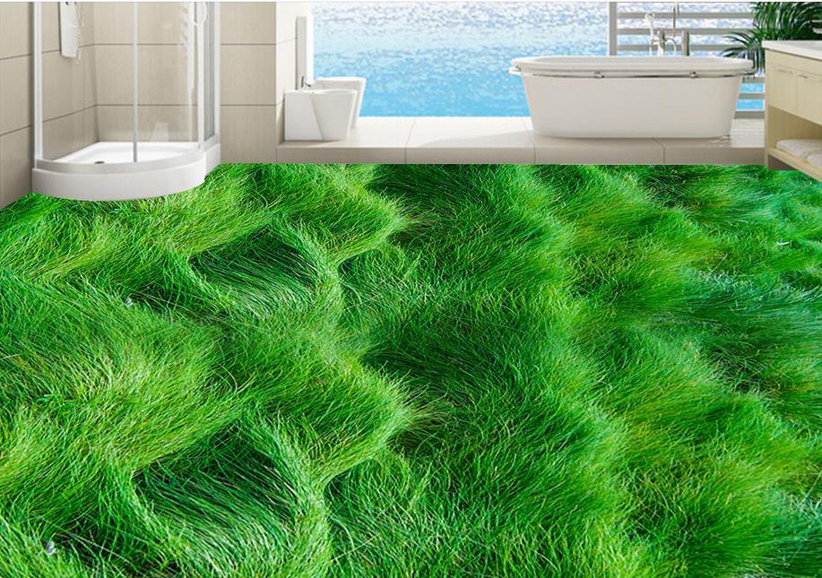 Vinyl Flooring Waterproof Custom 3d Floor Painting Grass Bedroom Wallpaper Pvc Mural In Wallpapers From Home Improvement On