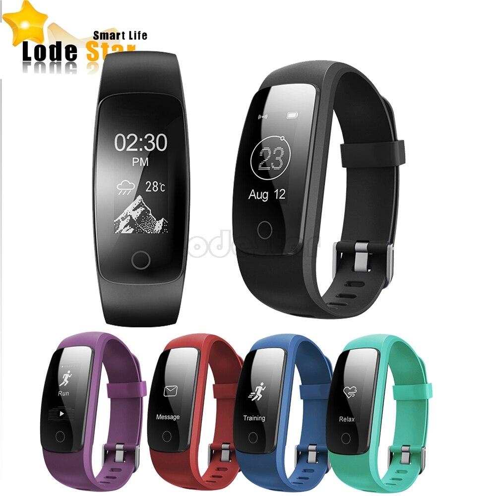 imágenes para ID107 Más HR GPS Banda Inteligente Pulsera Bluetooth Pulsera con Ritmo Cardíaco Rastreador de Fitness Sports Tracker Actividad Dormir Reloj