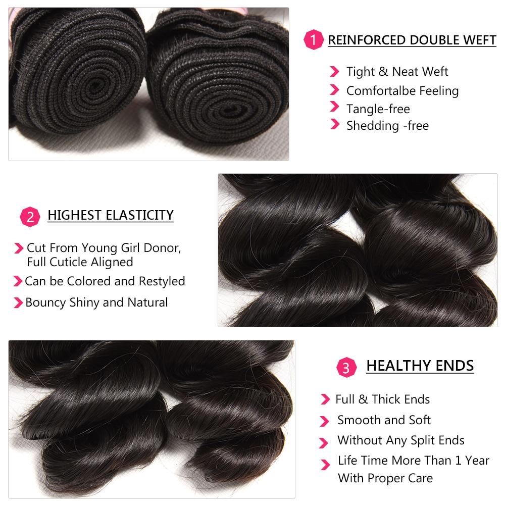 NADULA HAIR Loose Wave Bundles With Frontal   Bundles With Frontal Closure  Bundles With Closure 4