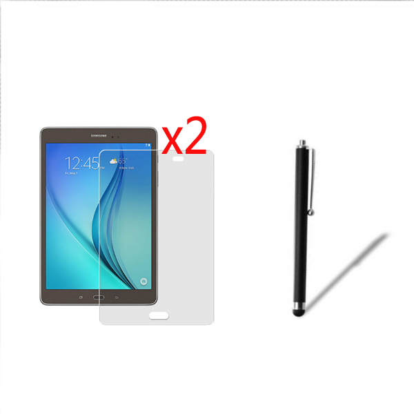 2x film 2x cloth 1x Stylus Pen Anti Glare Matted Screen Protector Matte Films For Samsung
