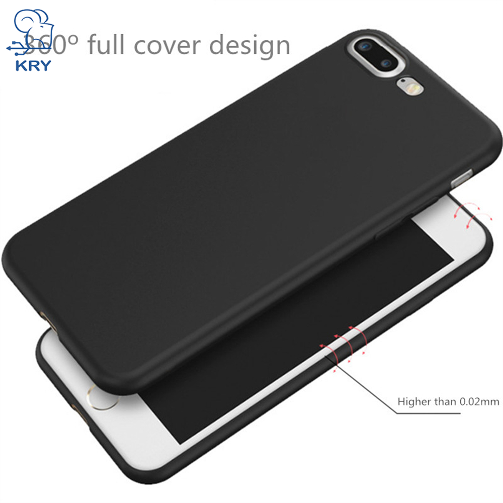 KRY Soft TPU Candy Color Phone Cases for iPhone 6 Case X 6 8 Plus Cover For iPhone 7 Case 7 5 5S SE Cases Ultra thin Capa Coque