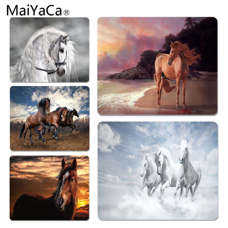 MaiYaCa New Arrivals Horse DIY Design Pattern Game mousepad Size for 180x220x2mm and 250x290x2mm Small Mousepad