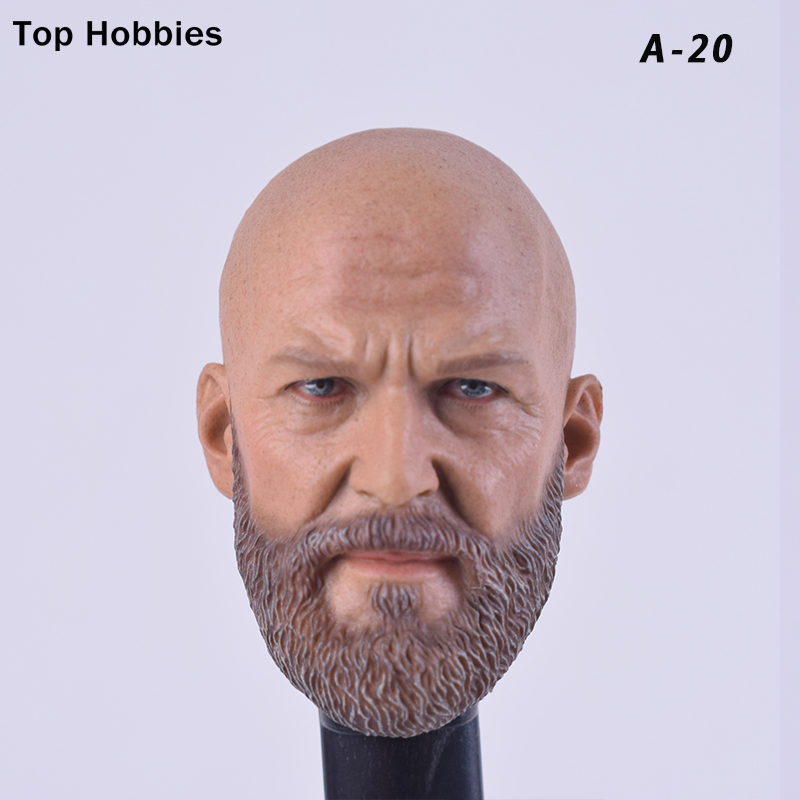 Custom Iron Monger Bearded 1/6 Scale Accessoires Male Head Sculpt for HotToys Fit 12 Inch Jeff Bridges Muscular Man Body Figure