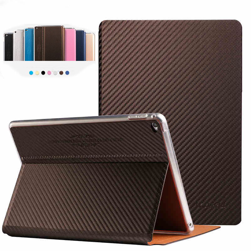 Fashion carbon fibre Case For ipad Mini 4 PU Leather Stand and Smart Sleep / Wake Up Function Luxury Business Tablet Cover sgl luxury ultra smart stand cover for ipad air 1 ipad5 case luxury pu leather cover with sleep wake up function for ipad air1