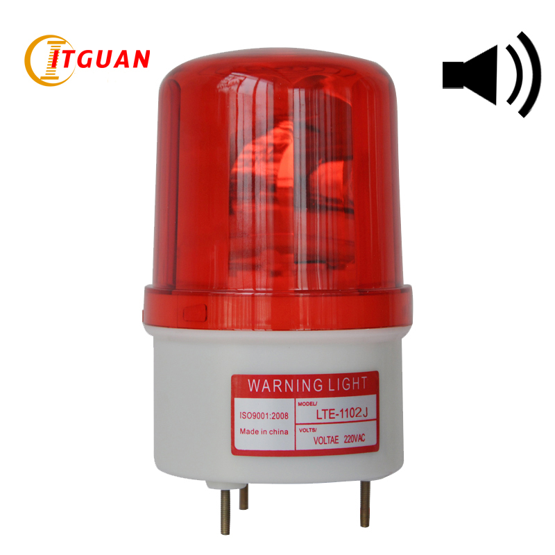 все цены на LTE-1102J buzzer warning light rotary Warning Lights with buzzer rotary signal lamp 220v CE/ROHS онлайн