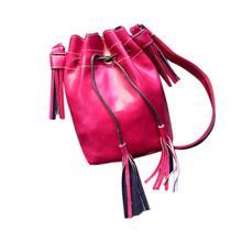 2017 New fashion ladies 15*9*21cm Shoulder Bag New Women Shoulder Bag Tassel Messenger Hobo Bag Purse Satchel A 17