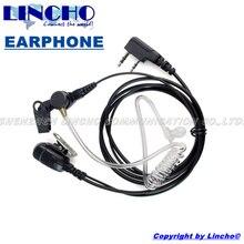 hot deal buy acoustic tube baofeng headset uv-5r walkie talkie earphone uv5r transceiver microphone handy talkie earpiece