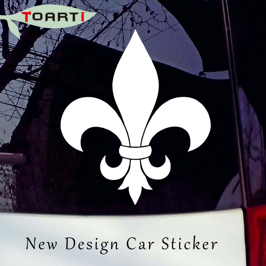 8.8 10.2cm Fleur De Lis Vinyl Decal Funny Car Styling Kights Temlar