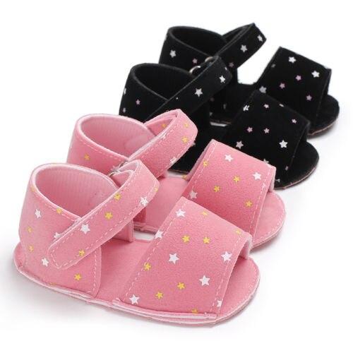 Summer Newborn Baby Boys Girls Polka Dot Prewalker Shoes Soft Sole First Walker