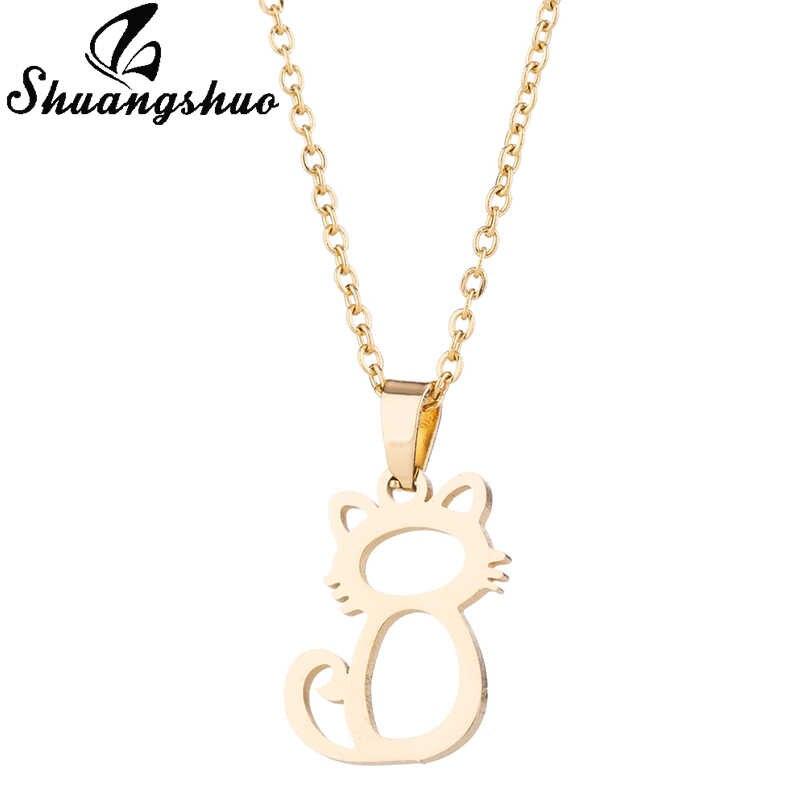 Shuangshuo 2018 Bijoux Cổ Điển Dễ Thương Mèo Choker Necklaces đối với Phụ Nữ Vật Nuôi Động Vật Mèo Bông Tai Vòng Cổ Trang Sức Phụ Kiện