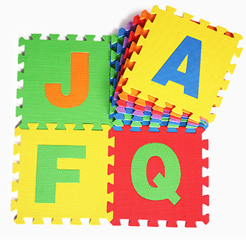 26pcs English Letters Alphabet Pattern Eco Friendly Floor Mats Soft And  Good Feeling Puzzle Foam Play Abc Letters Mats For Baby