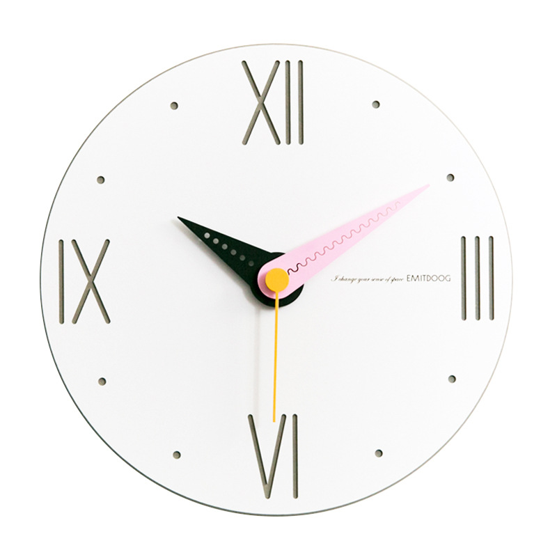 US $31.15 30% OFF Large Round Wall Clock Silent Bedroom Wall Clocks Kitchen  Modern Minimalist Watch Creative Living Room Simple Watches-in Wall Clocks  ...