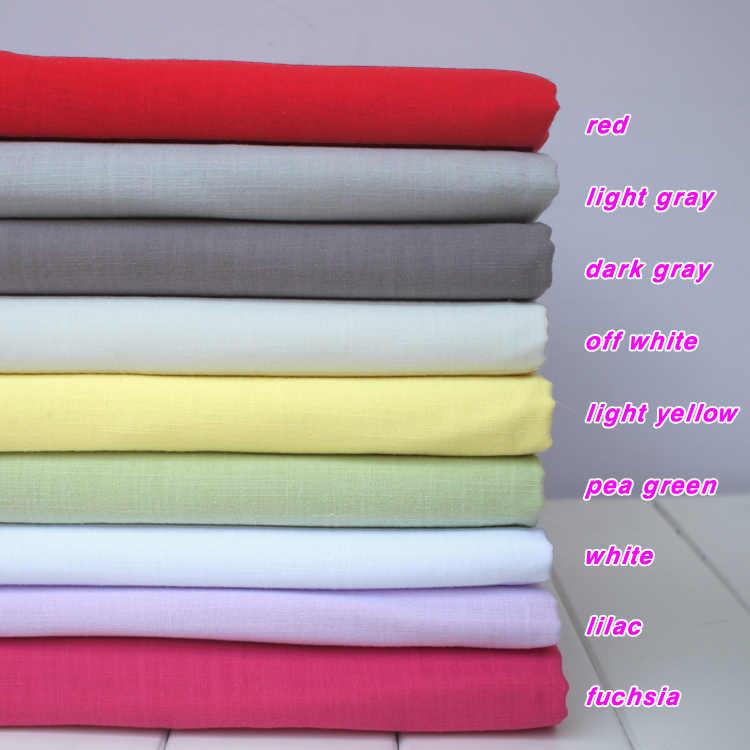 """Bawełna lniana mieszanka tkanin tkaniny lniane i bawełniane tkanina lniana letnia odzież tkanina spódnica 55 """"szerokości sprzedawane na jardy darmowa wysyłka"""