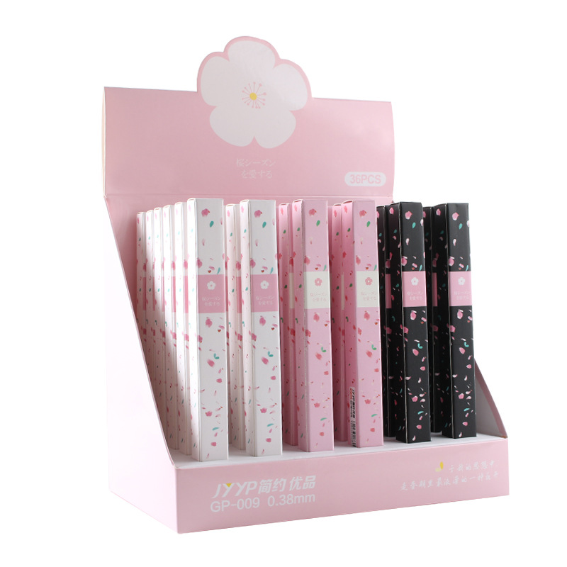 High Grade Cherry Blossom Neutral Pen, Cote's Aesthetic Sakura Pen Gift-bound Business Signature Pen, School Gift Stationery