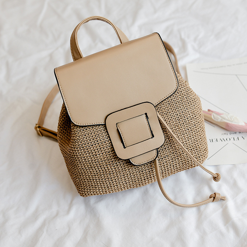 School Bags Backpacks For Teen School Backpack Female Mini Super Fire Woven Bag Shoulder Diagonal Portable Small Square