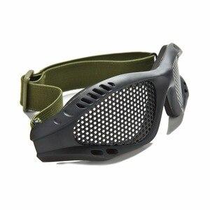 Image 5 - חיצוני שחור טקטי CS איירסופט פיינטבול מתכת Mesh Goggle עיניים מגן משקפיים חיצוני ספורט Eyewear סיטונאי
