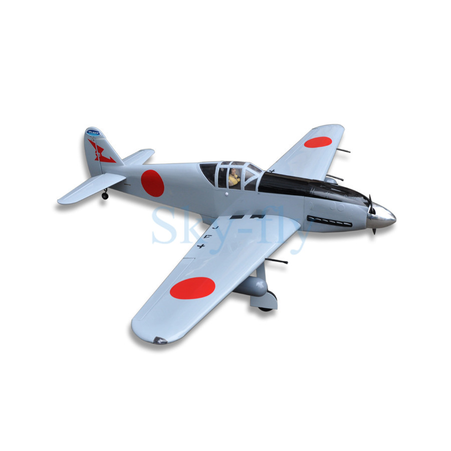 WWII Scale Airplane Model KI-61 Japan 60 Class Nitro Electric Dual Use Remote Control RC Balsa Wood Plane Fixed Wing все цены