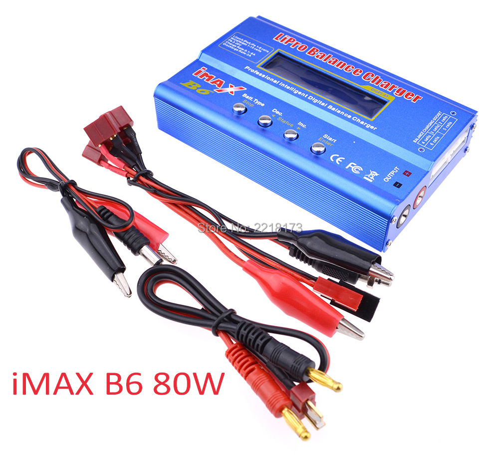 New iMAX B6 Li-on Lipo NiMh Li-ion Ni-Cd RC Battery Balance Digital Charger Discharger 80w with LCD Screen High Quality
