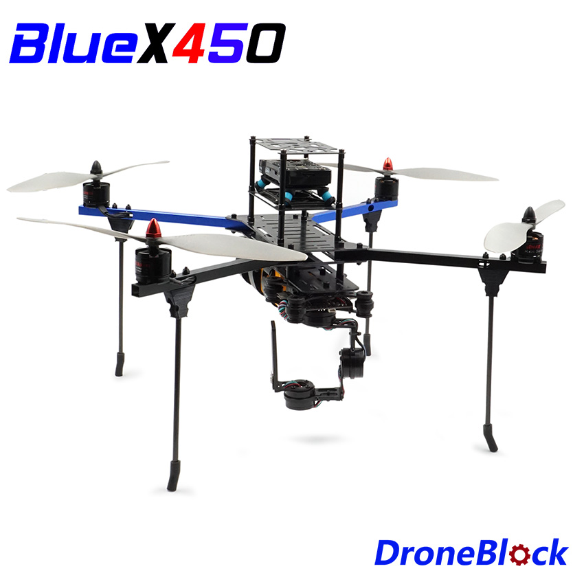 BlueX450 Quadcopter DIY Drone KIT Aluminum Frame F450 Multicopter  Multi-Rotor Racing Drone QuadX For RC FPV APM Pixhawk