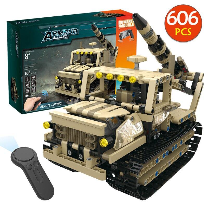 RC série technique militaire télécommande RC armé Hummer voiture bloc de construction brique jouets LegoINGLYS véhicules jouets pour garçons cadeau